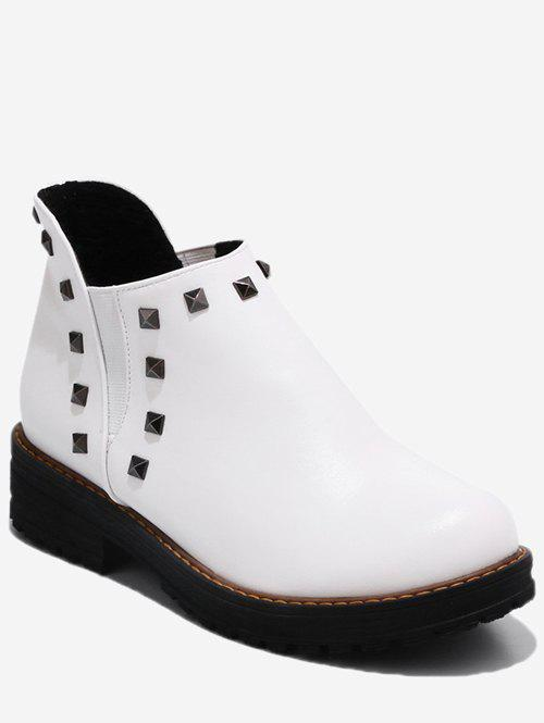 Chic Plus Size Studded Ankle Chelsea Boots