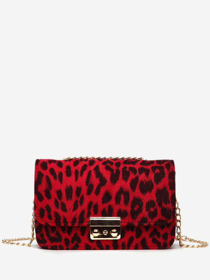 Trendy Leopard Printed PU Design Crossbody Bag