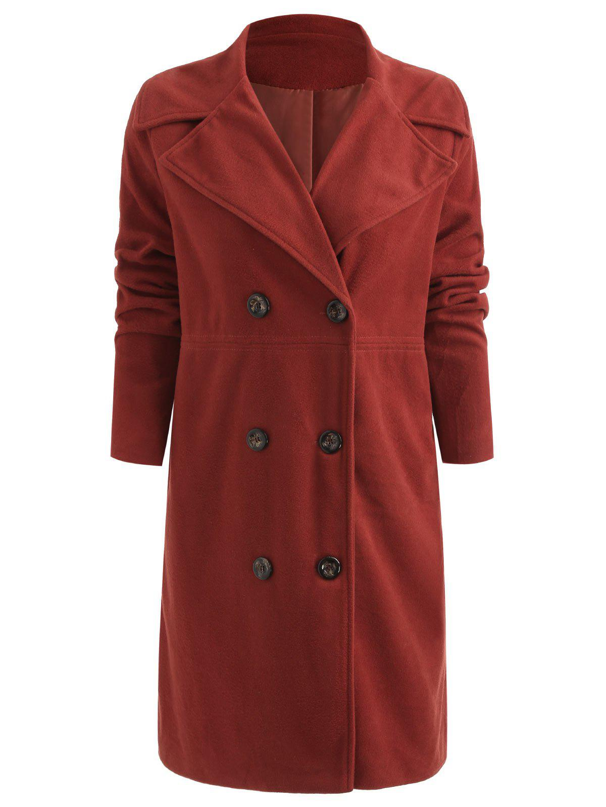 New Double Breasted Lapel Long Winter Coat