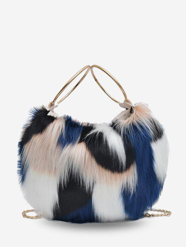 Fancy Statement Fluffy Link Chain Tote Bag