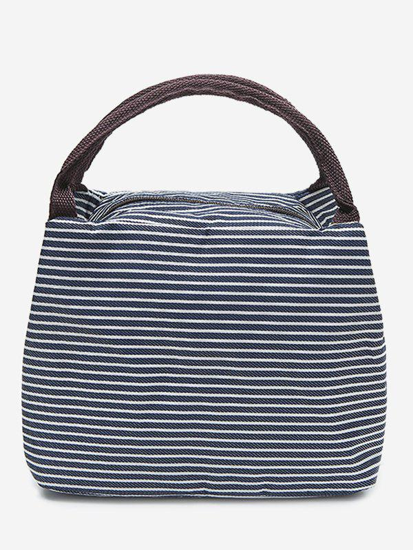 New Striped Shape Portable Lunch Tote Bag
