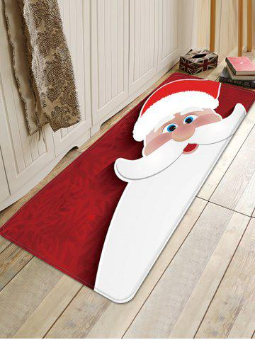 Christmas Santa Claus Pattern Water Absorption Floor Rug - MULTI - W16 X L47 INCH