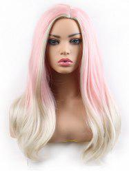 Long Side Parting Colorful Straight Lolita Synthetic Wig -