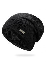 Solid Color Star Thicken Slouchy Beanie -