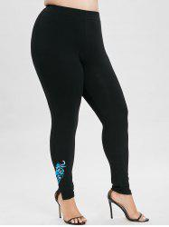 Legging stretch taille plus imprimé -