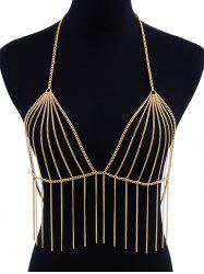 Hollow Out Tassel Design Body Chain -