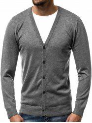 Button Up Solid Cardigan -