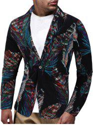 Feather Patter One Button Blazer -
