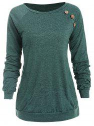 Buttons Embellished Long Sleeve T-shirt -