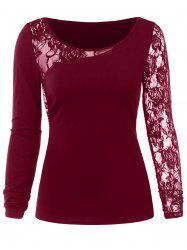 Floral Lace Insert Tee -