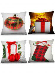 4PCS Father Christmas Gift Stocking Printed Pillowcases -