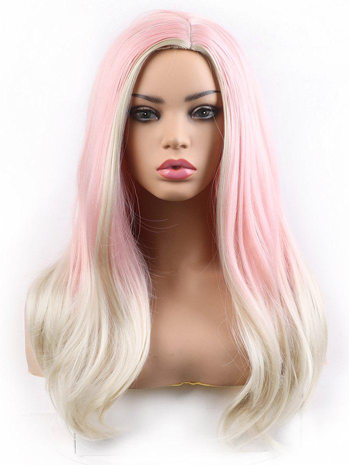 New Long Side Parting Colorful Straight Lolita Synthetic Wig