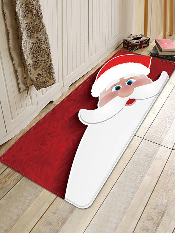 Chic Christmas Santa Claus Pattern Water Absorption Floor Rug
