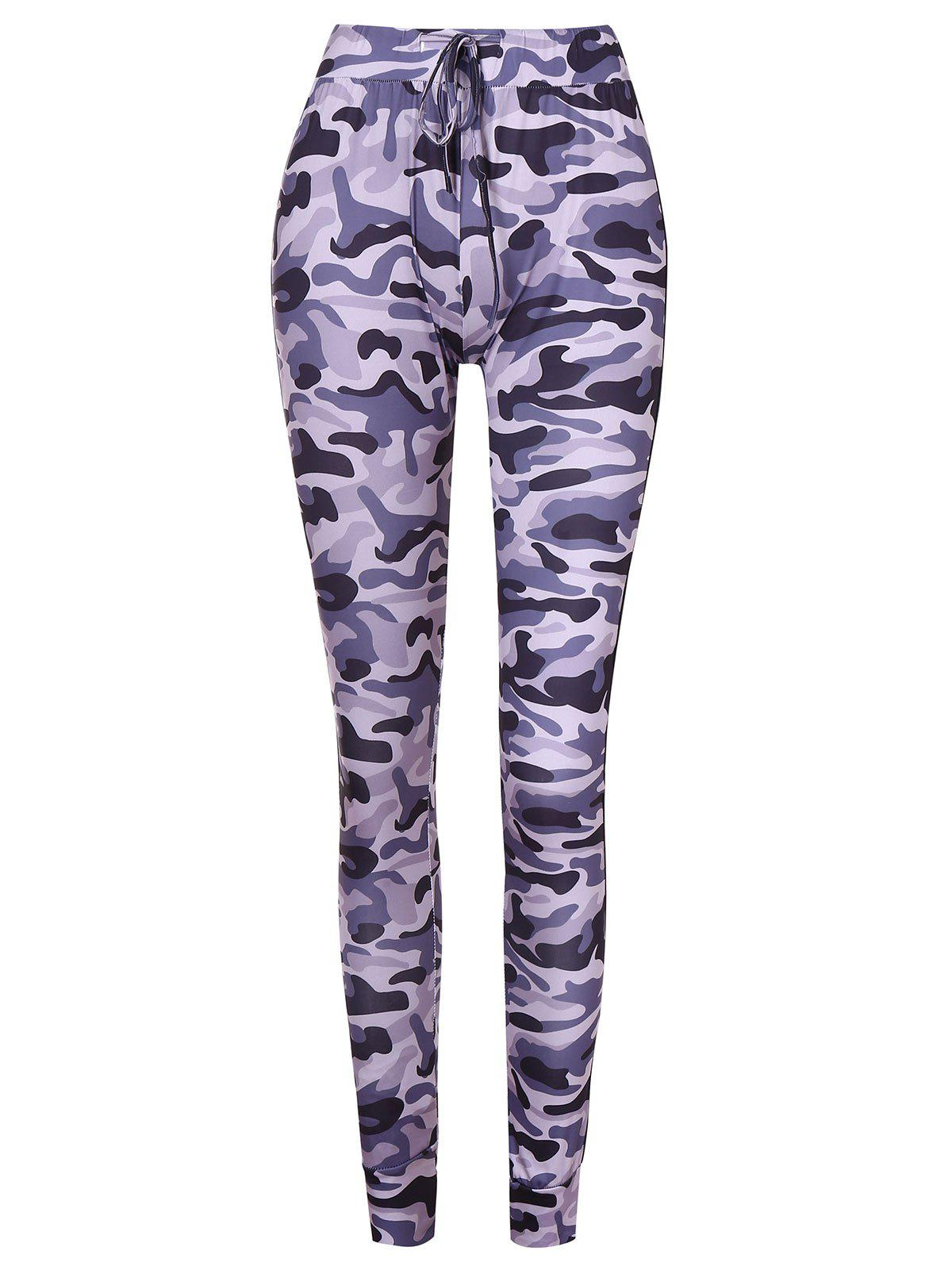 Store Drawstring Camouflage Pants