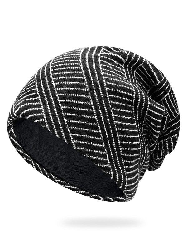 Striped Pattern Baggy Beanie