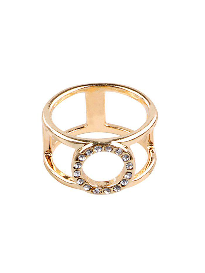 Latest Artificial Crystal Embellished Alloy Ring