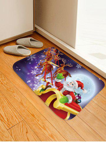 Christmas Moon Night Sleigh Pattern Water Absorption Area Rug - MULTI - W16 X L24 INCH