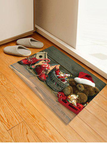Christmas Toys Pattern Anti-skid Water Absorption Area Rug - MULTI - W16 X L24 INCH