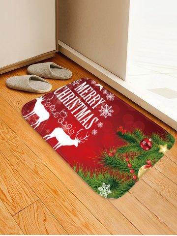 Merry Christmas Tree Pattern Anti-skid Water Absorption Area Rug