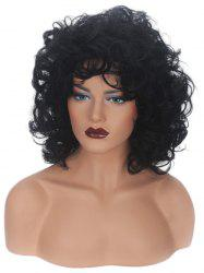 Medium Inclined Bang Curly Capless Synthetic Wig -