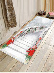 Christmas Stairs Pattern Anti-skid Water Absorption Area Rug -