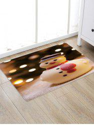 Christmas Snowman Pattern Anti-skid Water Absorption Floor Rug -