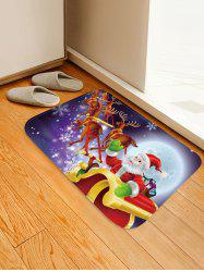 Christmas Moon Night Sleigh Pattern Water Absorption Area Rug -