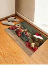 Christmas Toys Pattern Anti-skid Water Absorption Area Rug -
