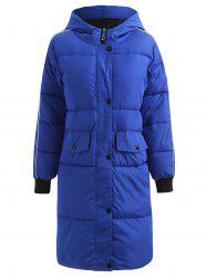 Long Hooded Puffer Coat -