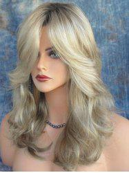 Long Side Bang Colormix Wavy Heat Resistant Synthetic Wig -