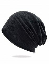 Solid Color Stripe Baggy Beanie -
