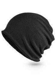 Solid Color Hollow Out Infinity Scarf and Beanie -