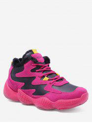 Lace Up Plush Running Sneakers -