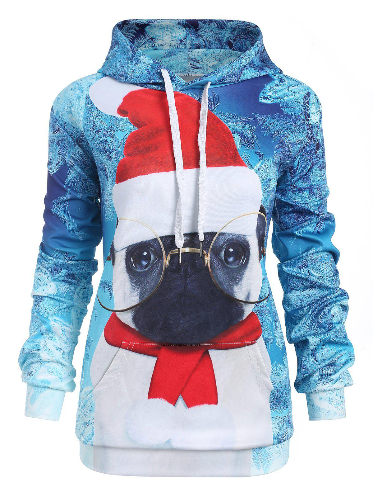 46db234aba7 2018 Plus Size Christmas Hat Hoodie In Coral Blue 1x