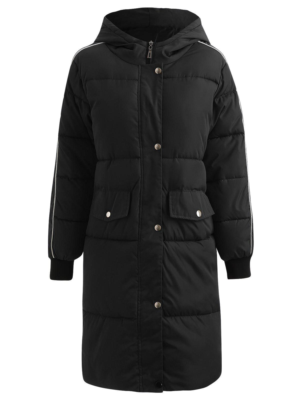 Cheap Long Hooded Puffer Coat