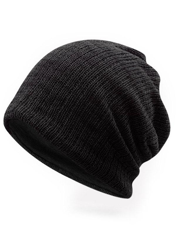 Outfits Solid Color Knitted Ski Cap