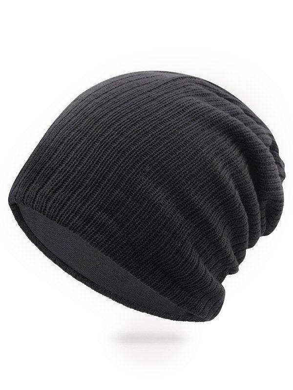 Cheap Solid Color Knitted Ski Cap