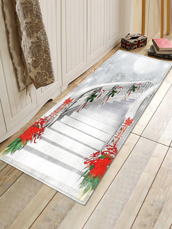 Sale Christmas Stairs Pattern Anti-skid Water Absorption Area Rug