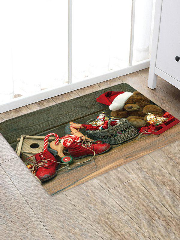 Shop Christmas Toys Pattern Anti-skid Water Absorption Area Rug