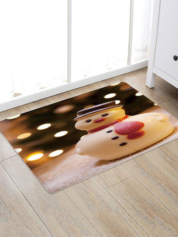 Shop Christmas Snowman Pattern Anti-skid Water Absorption Floor Rug