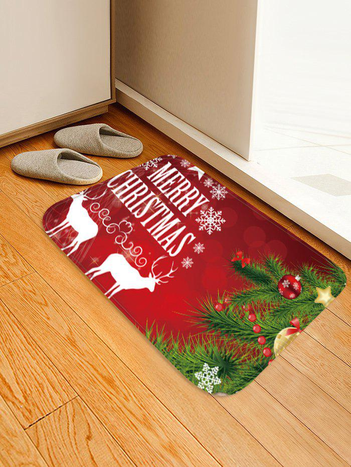 Discount Merry Christmas Tree Pattern Anti-skid Water Absorption Area Rug