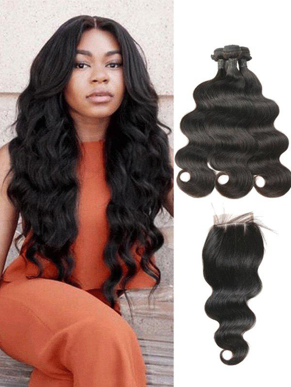42 Off 2018 Indian Human Hair Body Wave Hair Weaves With Closure