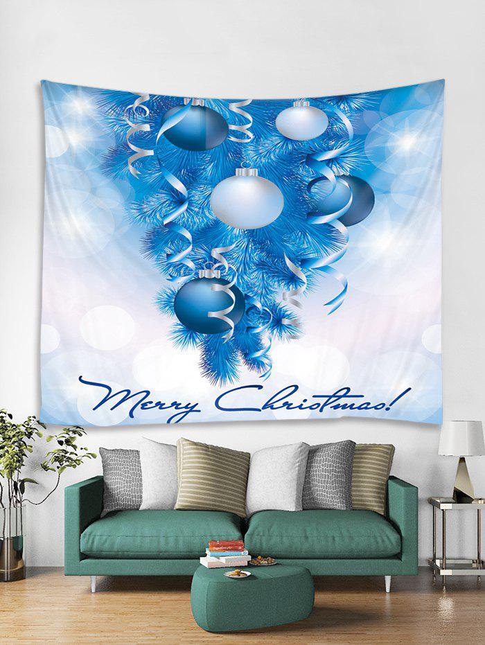 Store Christmas Tree Balls Print Tapestry Wall Hanging Decoration