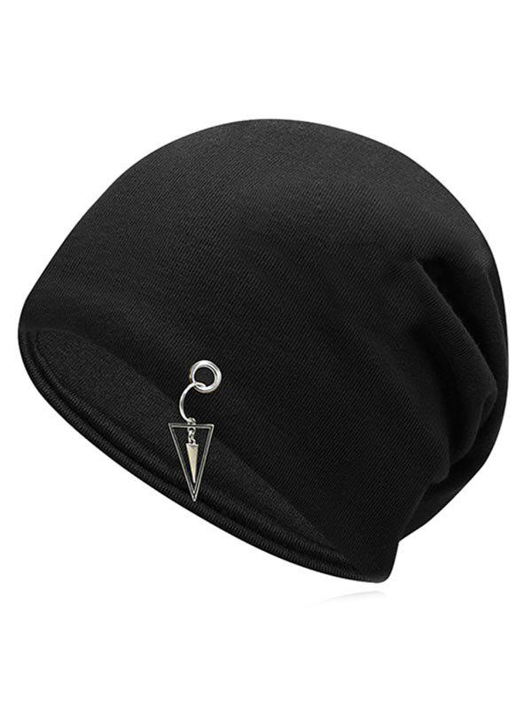 Buy Metal Triangle Hollow Out Slouchy Beanie