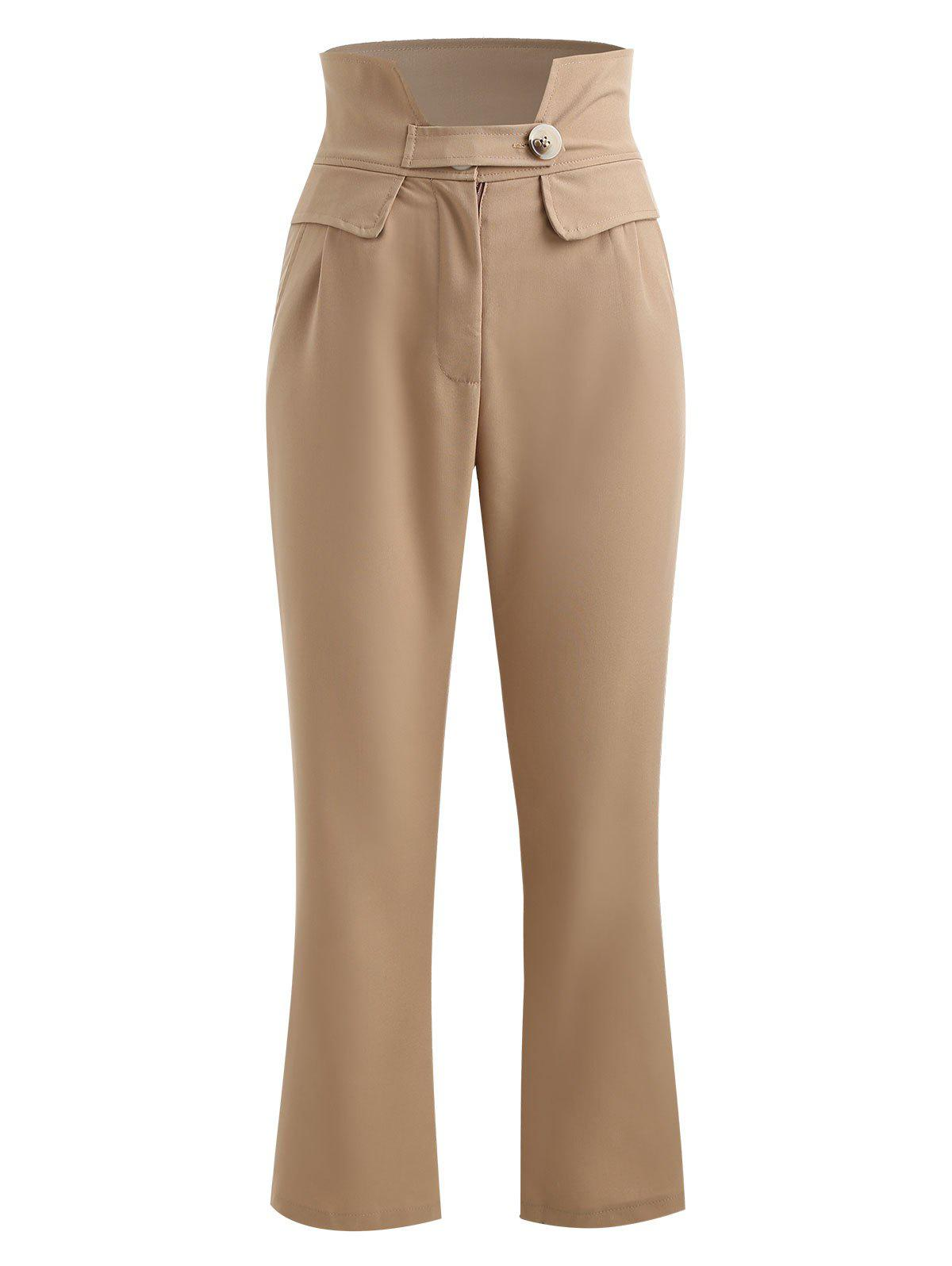 Hot High Waisted Double Pocket Tapered Pants