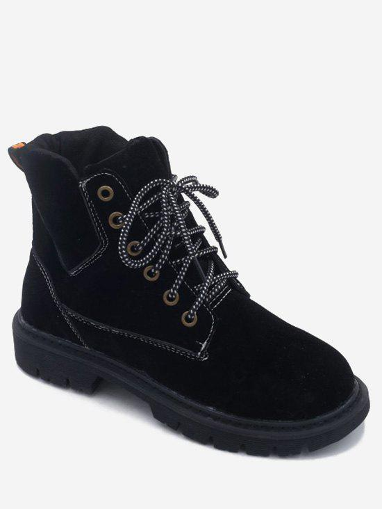 Cheap Low Heel Lacing Short Boots