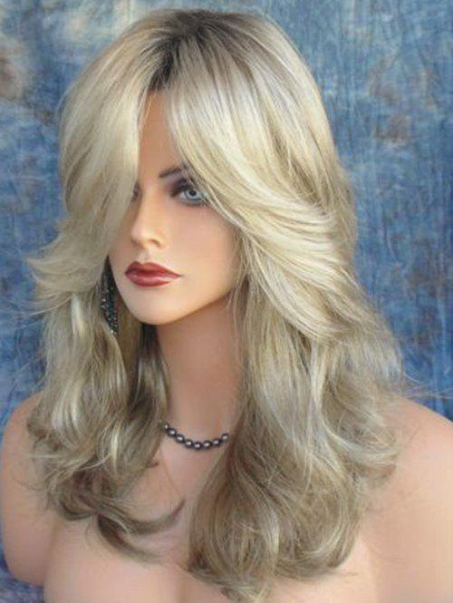 Chic Long Side Bang Colormix Wavy Heat Resistant Synthetic Wig