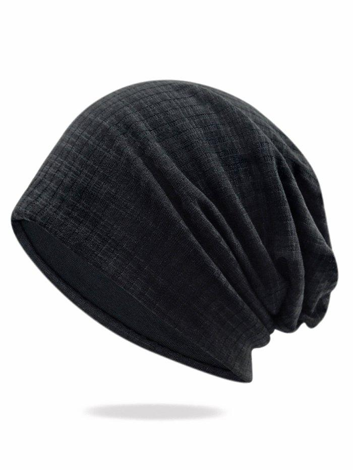 Chic Solid Color Stripe Baggy Beanie