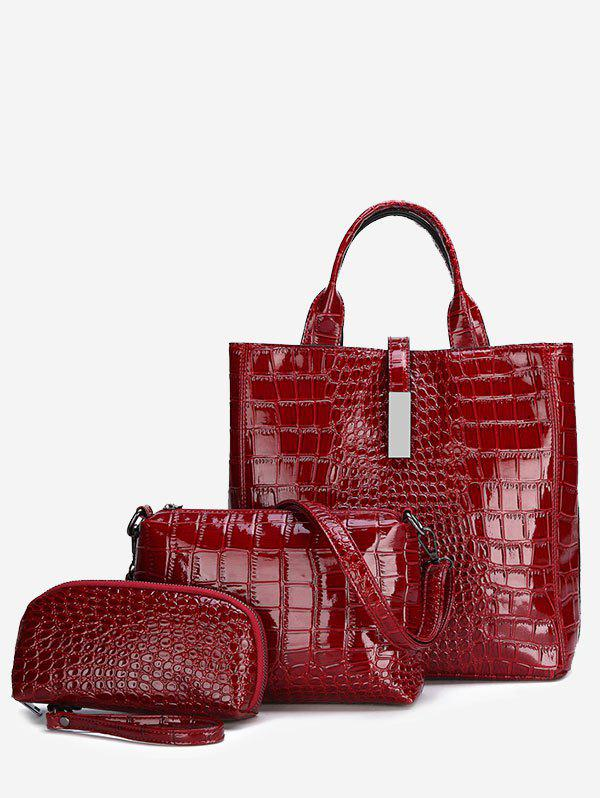 Store Patent Leather Tote Bags Set