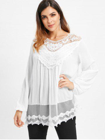Lace Panel Tunic Blouse